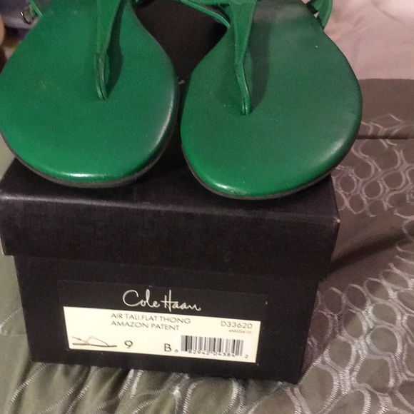 7c567bbd424 Cole Haan Shoes - Cole Haan Air Tali Thong Nike Air Amazon Green 9B